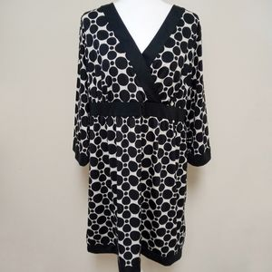 INC Black & White Polka Dot Long Sleeve Tunic